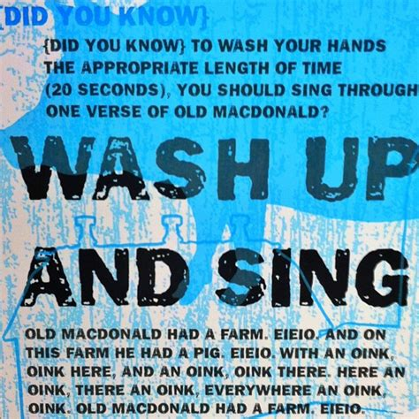 wash up and sing kevtastic