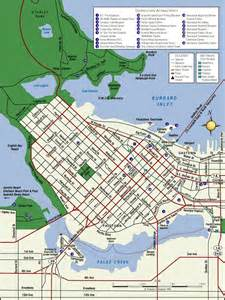 vancouver map vancouver bc canada mappery