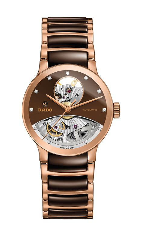 Jam Tangan Rado Gold harga rado rado centrix automatic open r30246712 jam tangan wanita gold id priceaz