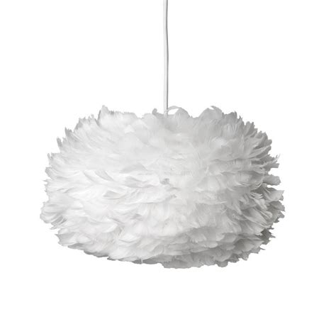 Feather Pendant Light Leo Vita Eos Feather Pendant Shade White Medium 45cm
