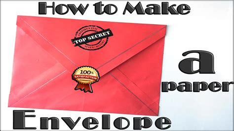 How To Make A Envelope From Paper - how to make a paper envelope tutorial origami envelope