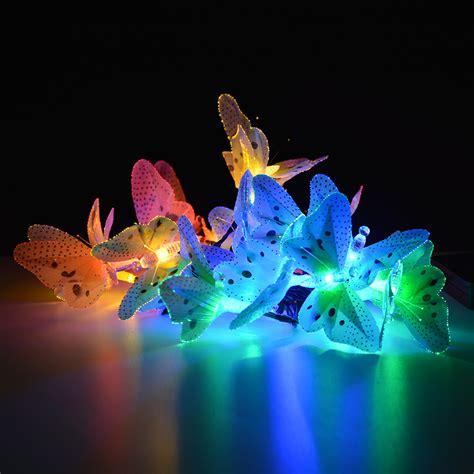 12 20 Led Fiber Optic Butterfly Solar String Light Solar Powered Butterfly String Lights