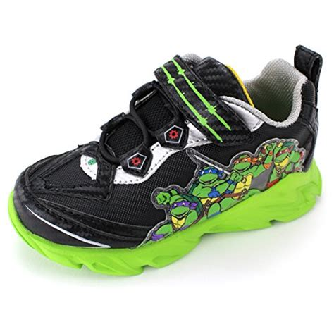 mutant turtles shoes tmnt turtles boys black lighted sneakers shoes