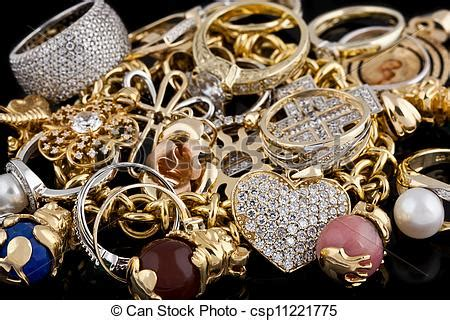 gold jewelry   black background