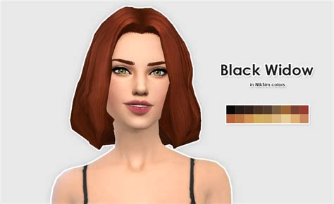 black widow hair color ellesmea