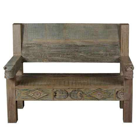 recycled wood bench ozark hand carved reclaimed wood porch bench w high back