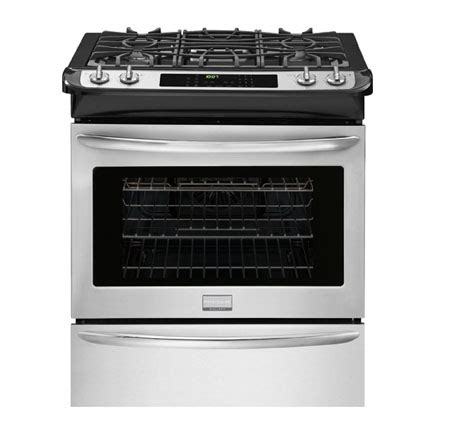 "frigidaire gallery 30"" slide in gas range fggs3065pf"