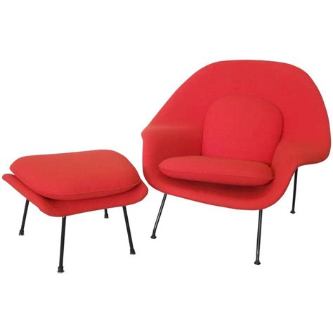 womb chair with ottoman early production eero saarinen for knoll womb chair with