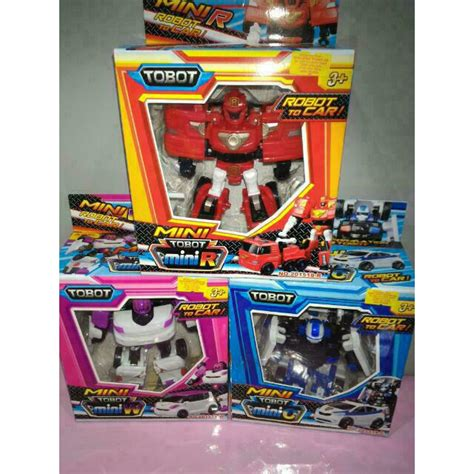 Tobot Mini Transform Robot tobot 3 in 1 set mini tobot toys robot transform to