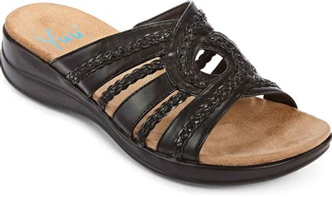 jcpenney comfort shoes jcpenney yuu yuu jordan comfort slide sandals shopstyle