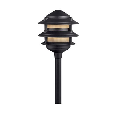 Portfolio Low Voltage Landscape Lighting Shop Portfolio Black Low Voltage Spotlight At Lowes
