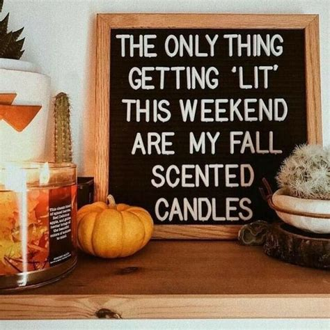 lit  weekend   fall scented candles pictures   images