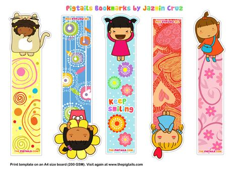 the cool web pattern of children s reading bookmarks cute kawaii resources