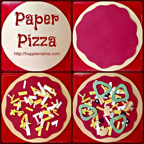 How To Make Paper Pizza - food craft paper pizza our potluck family