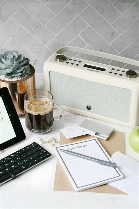 desk radio with bluetooth from my desk office necessities and vq speaker giveaway