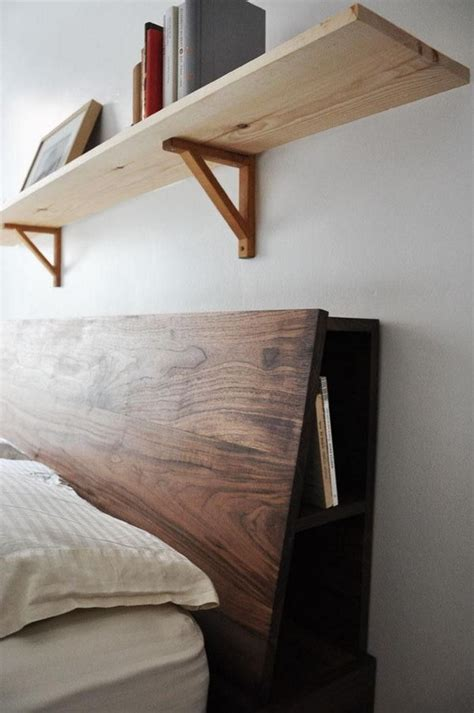 shelf headboard ideas 20 cool headboards with storage noted list
