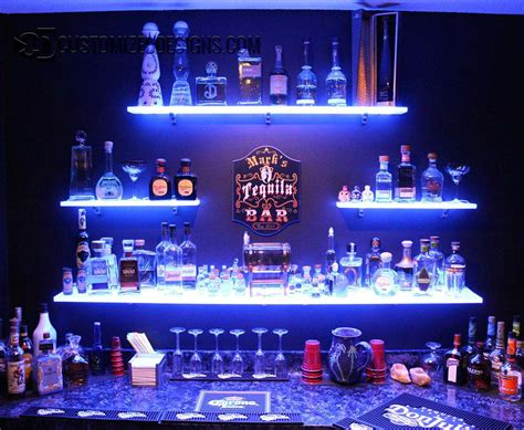 Best Color For Furniture by Led Lighted Shelves Back Bar Shelving For Home Bars