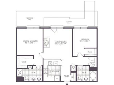 the jeffersons apartment floor plan 2 bed 2 bath apartment in hoboken nj 1000 jefferson