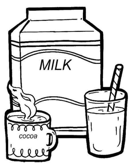 drinks coloring pages for childrens printable for free