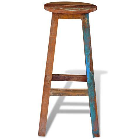 Solid Wood Bar Stools Sale by Vidaxl Co Uk Reclaimed Solid Wood High Bar Stool