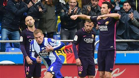 barcelona vs deportivo deportivo la coru 241 a vs barcelona football match report