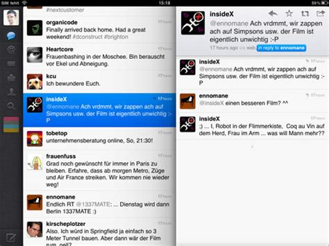 twitter ipad layout design patterns what is a good way to display infinite