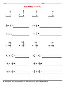 fraction review problems 187 worksheetsdirect com