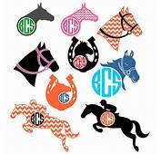 Horse Monogram Svg Cuttable Design By CuttableSVG On Etsy