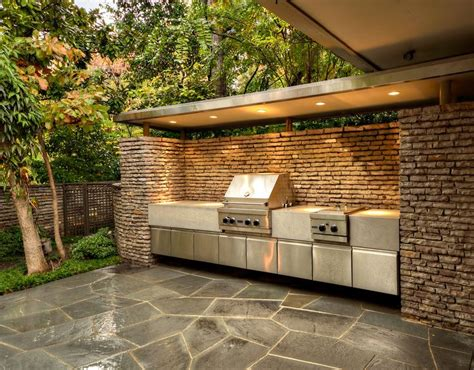 garden kitchen outdoor grilling area harold leidner landscape architects