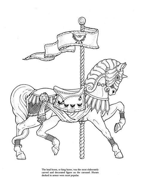 coloring pages of carousel horses 21 best coloring pages advanced carousel horses images on