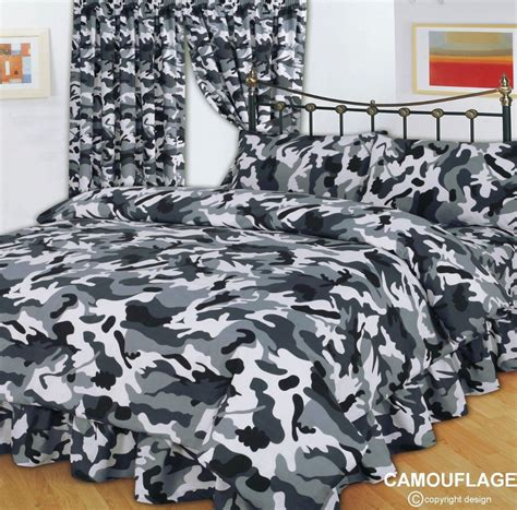 army bedding grey black army military camouflage design reversible