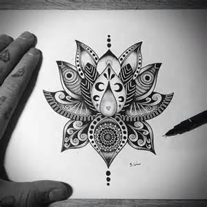 mandala lotus designs lotus flower tattoo design on