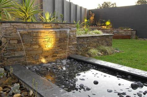 contemporary water garden design for modern outdoor patio