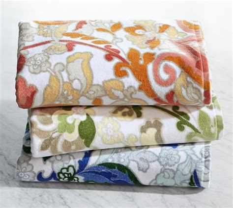 Printed Towel valentina printed bath towels pottery barn