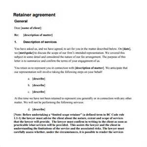 fee agreement template retainer agreement 9 free documents in pdf