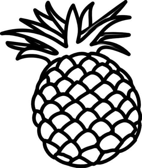 pineapple coloring page pineapple coloring pages 360coloringpages