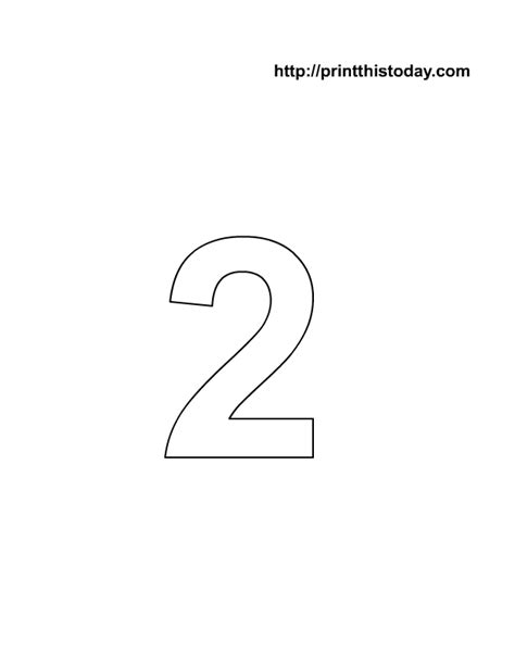 printable number 2 coloring page number coloring pages