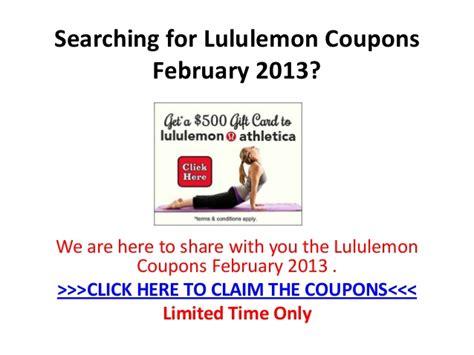 Lululemon Gift Card Code - lululemon coupons february 2013
