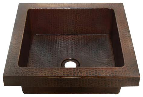 raised bathroom sinks square raised profile bathroom copper sink with apron rustic bathroom sinks by