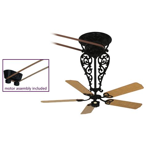 belt driven ceiling fan fanimation fp580bl 18 l1 bourbon street collection old