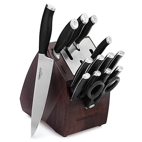 self sharpening kitchen knives calphalon 174 contemporary self sharpening 15 piece cutlery
