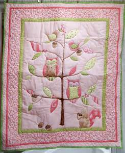 owl on a limb baby quilt