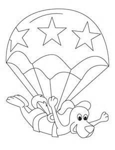 Free Toodler Parachute Picture To Color For Kids Best Coloring Pages sketch template