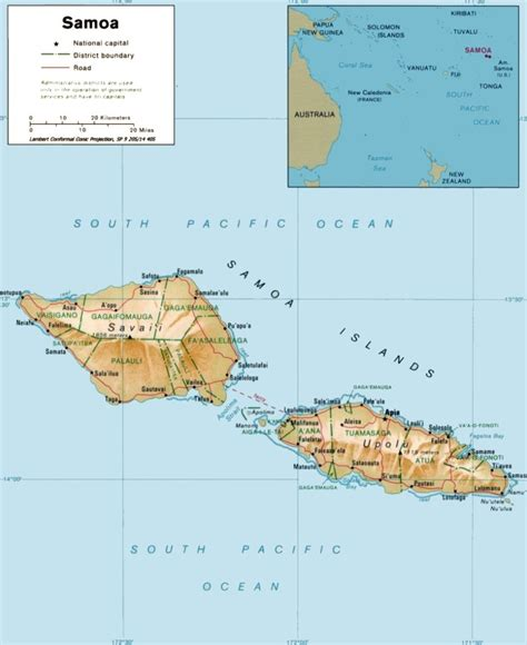 where is samoa on the map samoa map
