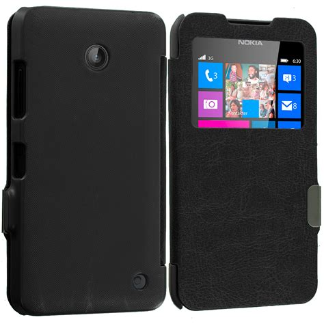 Ume Flip Shell View Lumia 635 for nokia lumia 630 635 magnetic wallet closing flip cover ebay