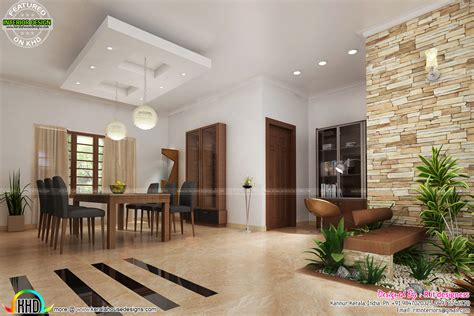 kerala home design with courtyard house interiors by r it designers kerala home design and
