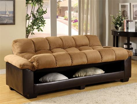Plush Sofa Bed Brantford Camel Espresso Elephant Microfiber Plush Futon Sofa Bed