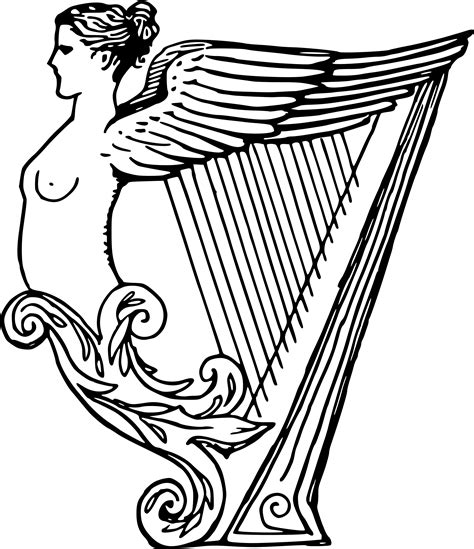 irish instruments coloring page irish harp drawing www imgkid com the image kid has it