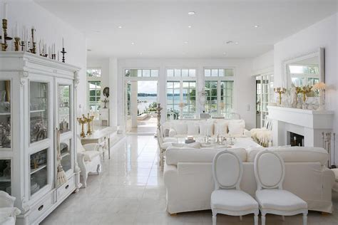 White luxury house by the sea