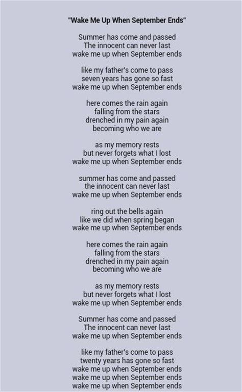 september testo 25 best ideas about september ends lyrics on
